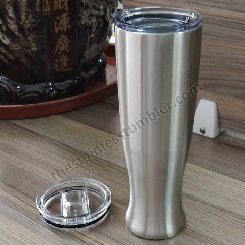 20 Oz Double Wall Vacuum Insulated Stainless steel vase shape Stemless Tumbler Cup