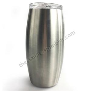 25oz Stainless Steel stemless wineglass Double Wall Wine Glass Insulated Tumbler Cup with Lid
