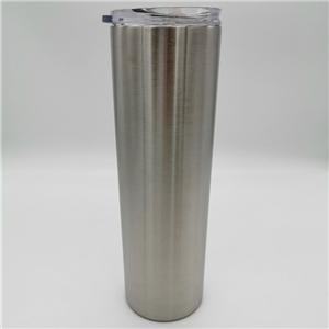 30oz Stainless Steel Double Wall Insulated Skinny Tumbler With Clear Sliding Lid
