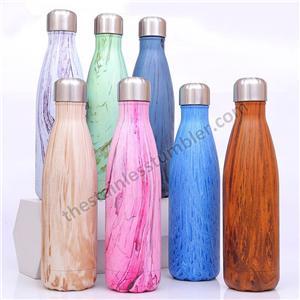 17oz Custom logo färgglada Cola Shape Rostfritt stål vattenflaska