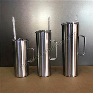 20oz 30oz Double Walled Insulated Vacuum Stainless Steel skinny Tumbler with Handle