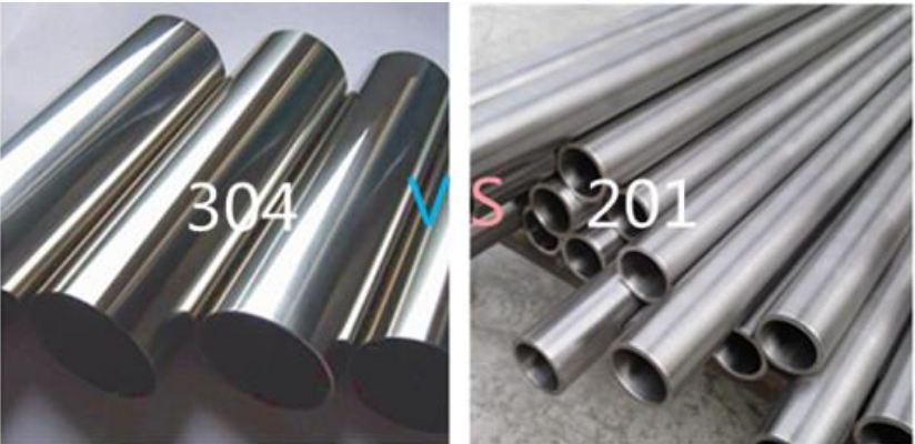 304 og 201 rustfrit stål