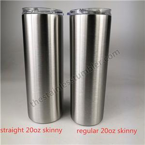 stainless steel 20/30oz straight skinny with upgrade slide lid double wall Insulated
