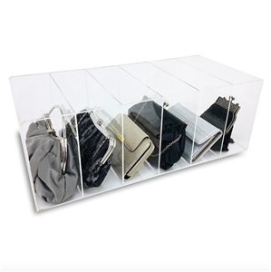 6 Slot Acrylic Purse Organizer