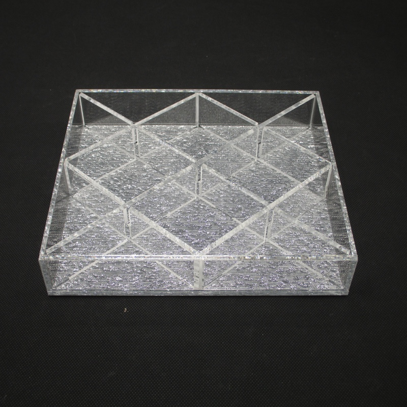 Rectangle Neon Acrylic Tray With Dividers