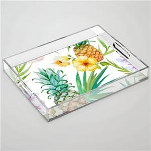 Clear Acrylic Tray With Insert Paper