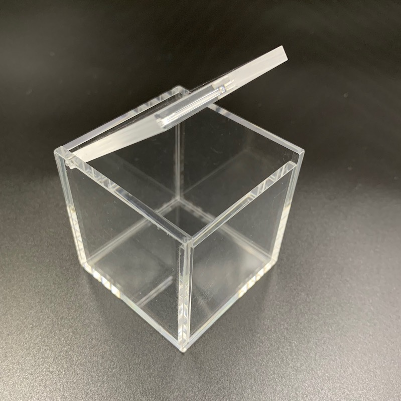 Small Square Acrylic Ring Box With Lid