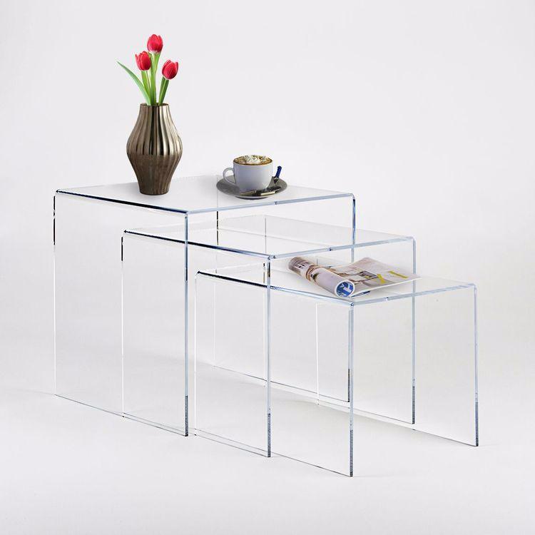 Acryl Nesting End Table Set