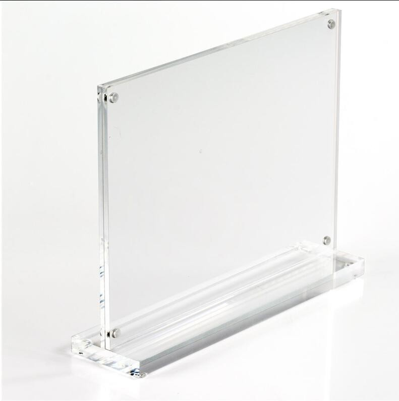 Acrylic T Shape Table Top Double Sided Sign Holder 5x7 Manufacturers, Acrylic T Shape Table Top Double Sided Sign Holder 5x7 Factory, Supply Acrylic T Shape Table Top Double Sided Sign Holder 5x7