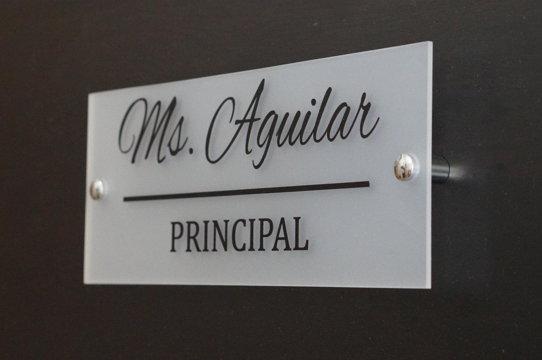 acrylic hotel door sign