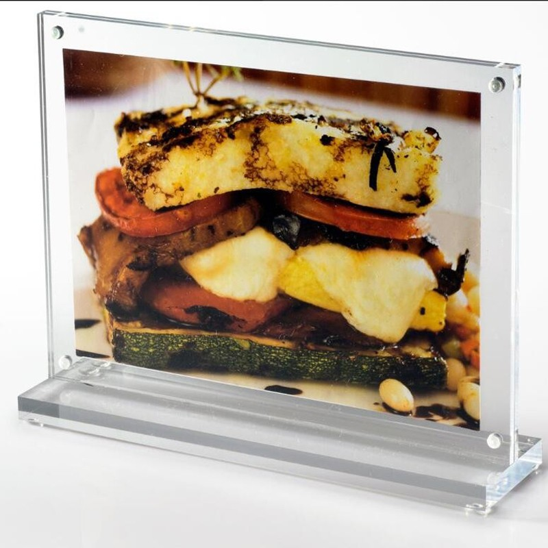 Acryl T-Form Tischplatte Doppelseitige Hinweisschilder 5x7