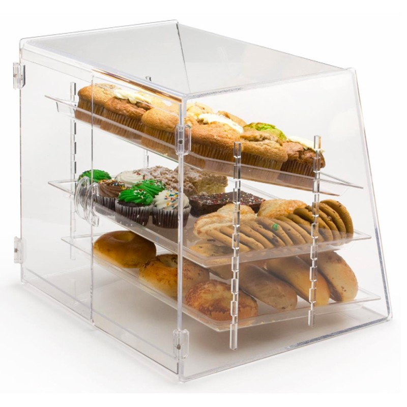 3 Tier Acrylic Bakery Display Case With Tray