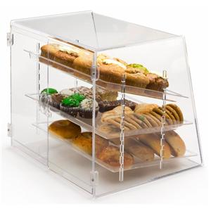 3 Tier Acryl Bäckerei-Vitrine mit Tablett