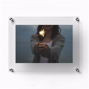 Clear Acrylic Wall Mount Floating Picture Frame