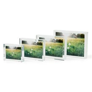 Clear Freestanding Acrylic Photo Frame 4x6