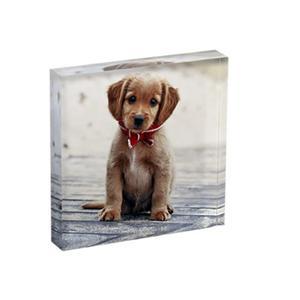 Small Desktop Acrylic Magnetic Block Photo Frame 5x5