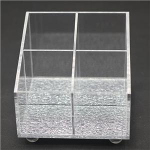 4 Compartments Clear Acrylic Cosmetic Eyeshadow Storage Organizer