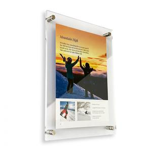 Floating Acrylic Certificate Frame Double Panel