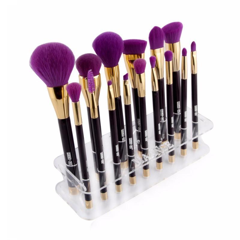 Bancada acrílico Maquiagem suporte de escova carrinho de exposição