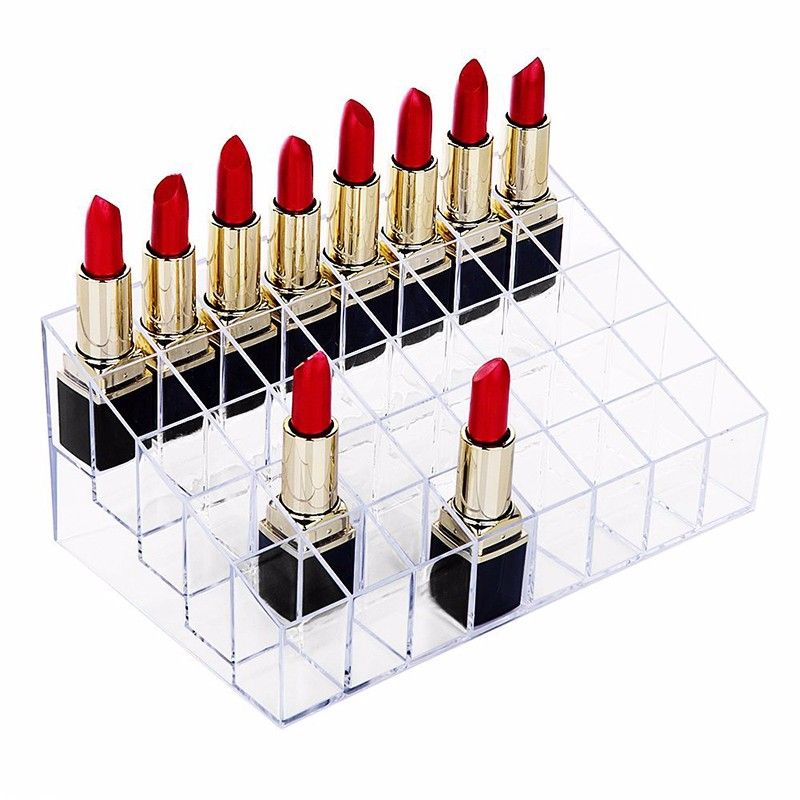 Clear Acrylic Makeup Lipstick Display Case