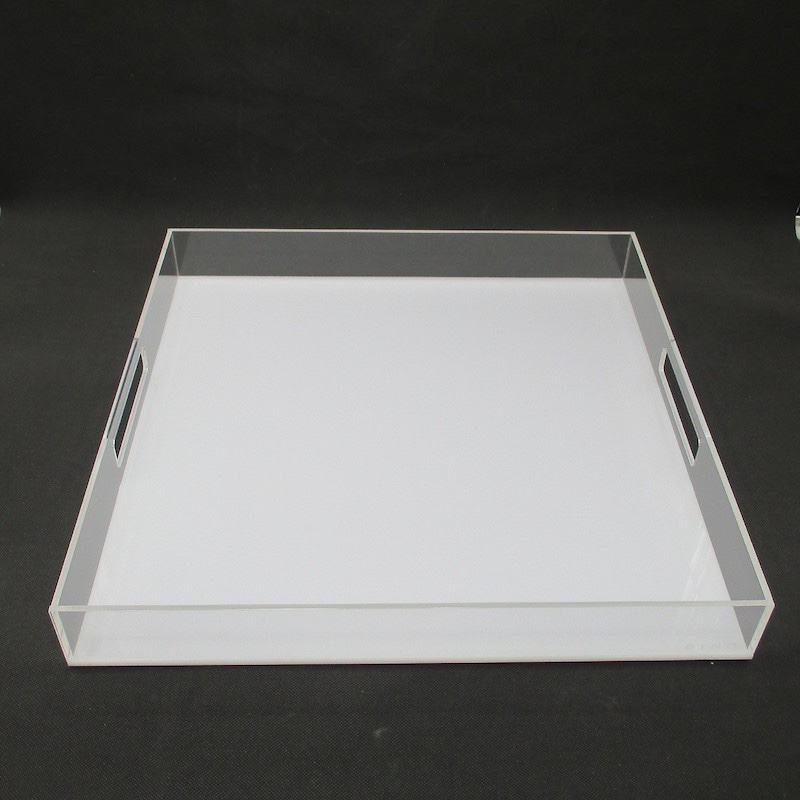 Large Acrylic Square Tray For Breakfast