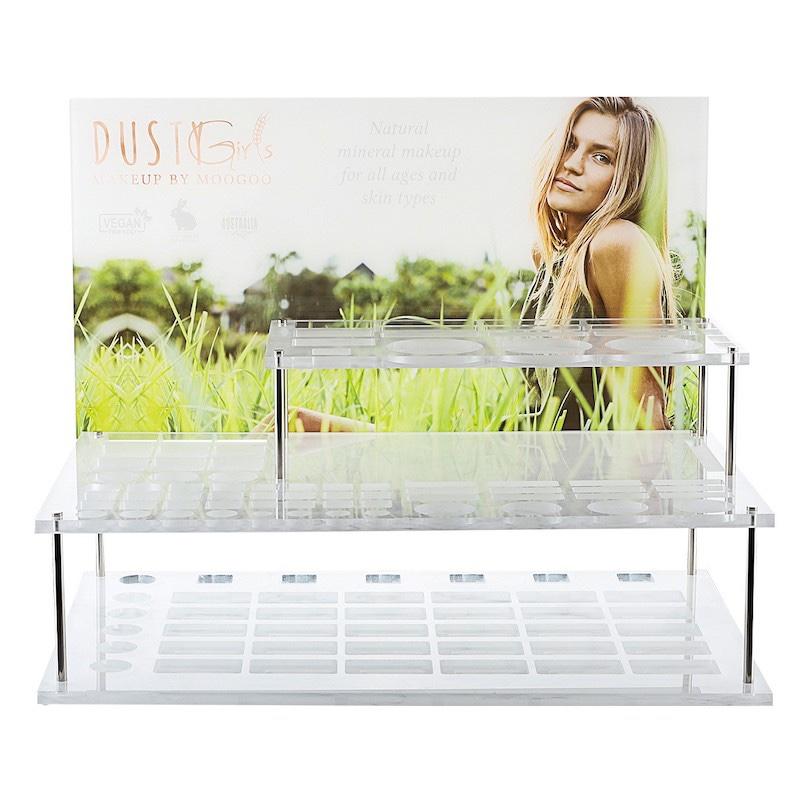 3 Tier Countertop Clear Acrylic Cosmetic Displays