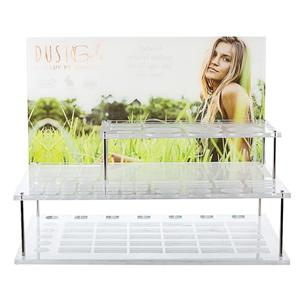 3 Tier Countertop Clear Acrylic Cosmetic Displays