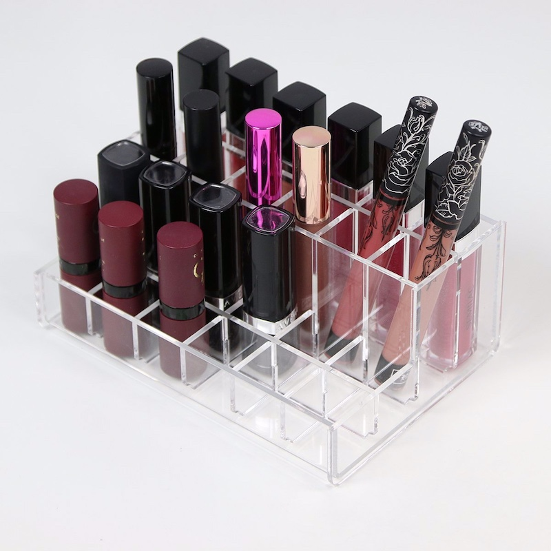 24 Spaces Countertop Acrylic Makeup Lipgloss Organizer