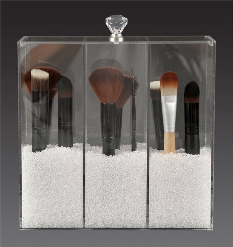 Acrylic Makeup Brush Holder Beauty Brush Organizer