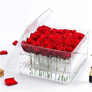 Clear Acrylic Rose Flower Box