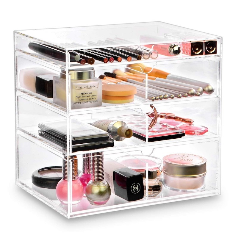 Transparent Acrylic Jewelry Box With Drawer