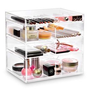 Transparente Acryl Schmuckkasten mit Schublade