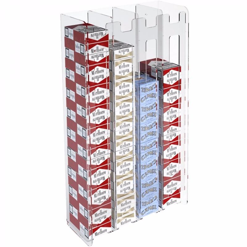 Wandhalterung Acryl Zigarettenschachtel Rechteck Display Box