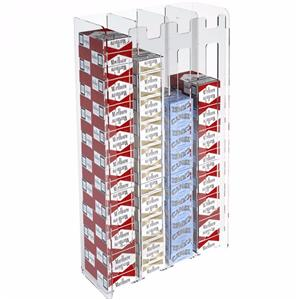Wall Mount Acrylic Cigarette Box Rectangular Display Box