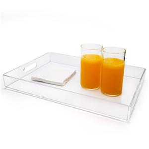 Acrylic Hotel Amenity Coffee Serving Tray
