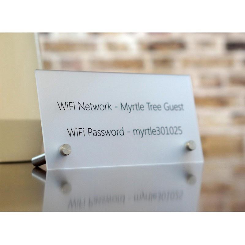 Acrylic Hotel Door Guest Room Digit Sign Display