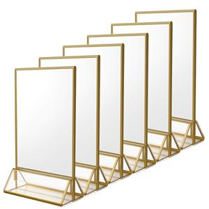 Table Top Acrylic Menu Holder Display Stand