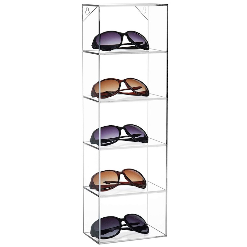 Wall Mounted Acrylic Sunglasses Eyewear Display Stand Case