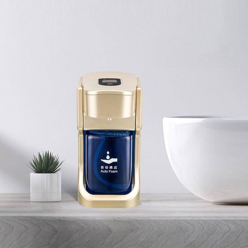 SWE automatique Touchless Moussant Distributeur de savon 17 oz / 500 ml Capteur de batterie haut de gamme de mouvement infrarouge Operated (Argent / Or)