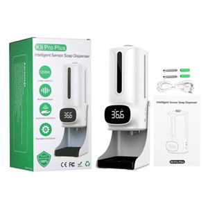 K9 Pro Plus Thermomether עם קול מובנה המשדר 15 שפות Sanitiser Dispenser יד סבון