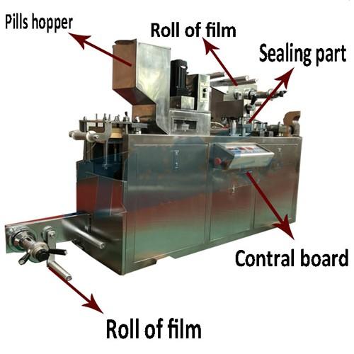 Máquina empacadora de blister de cápsulas DPP-150