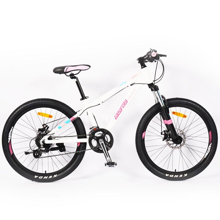 Bicicleta de montaña con horquilla de amortiguador de 24 pulgadas para niña
