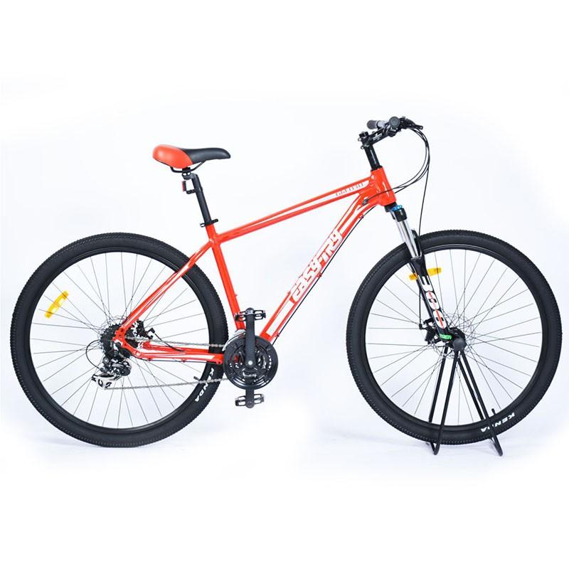 Marco de aleación naranja Frenos mecánicos Bicicleta de montaña