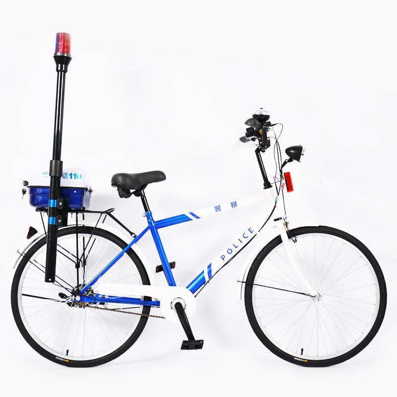 Bicicleta de montaña de acero inoxidable de patrulla de policía de una sola velocidad