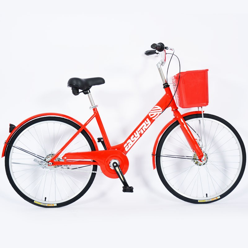High Carbon Steel Rental Anti Theft City Public Bike