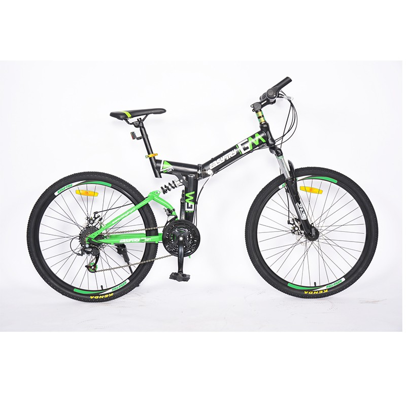 Bicicleta de montaña con marco de aleación de aluminio de doble suspensión