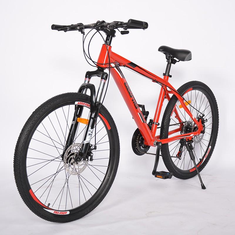 Bicicleta de montaña de suspensión de freno de disco de 26 pulgadas de alto