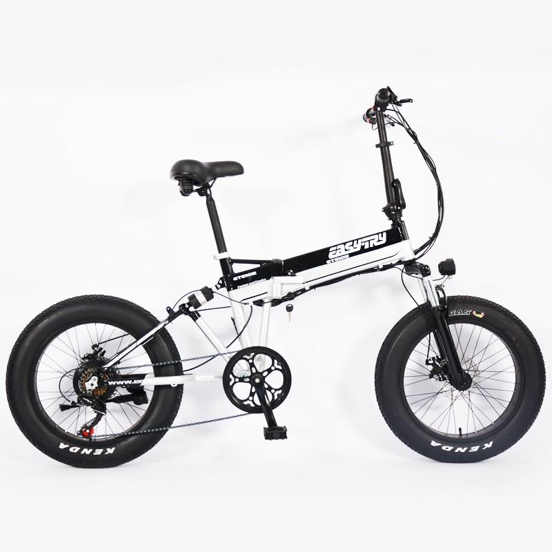 Bicicleta eléctrica portátil de entrega plegable de aluminio de 48V