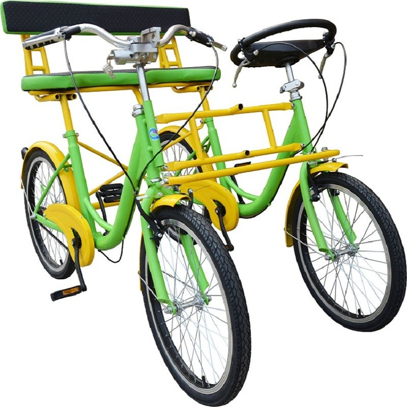 Vintage Stahl Aluminium Alloy Rim Doppelsitz Tandem City Bike