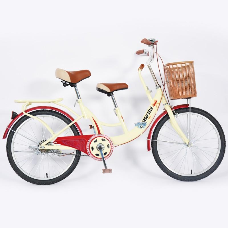 High Carbon Steel Baby Seat Plastic Basket City Bike